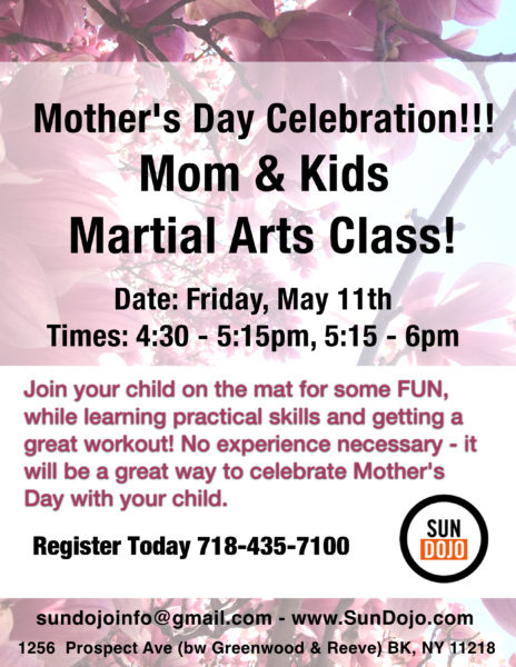 Mother's day Celebration – Mom & Kids Martial Arts Class
